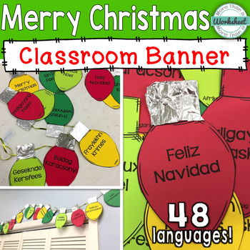 merry christmas banner 48 languages included