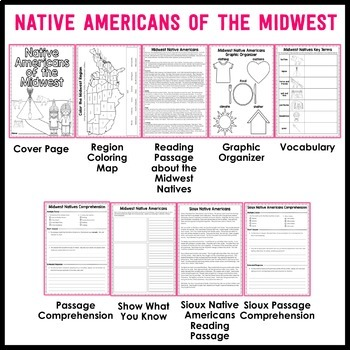 Native Americans Unit - Reading Passages and Comprehension Activities