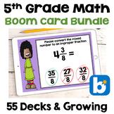 5th Grade Math Boom Card BUNDLE