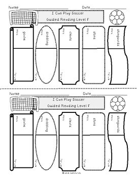 I Can Play Soccer by Edana Eckart, Guided Reading Lesson Plan Level F