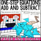 One-Step Equations Add and Subtract Activity Pack