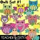 Owl Clipart BUNDLE - 68 Graphics