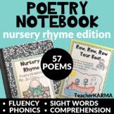 Poetry Notebook Nursery Rhymes KIT  ~ 57 Poems ~ Intervention RTI
