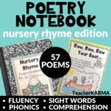 Poetry Notebook Nursery Rhymes KIT, 57 Poems, Intervention RTI