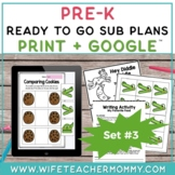 Pre-K Sub Plans (Preschool Emergency Substitute Plans) Set #3