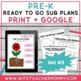 Pre-K Sub Plans (Preschool Emergency Substitute Plans) Set #5