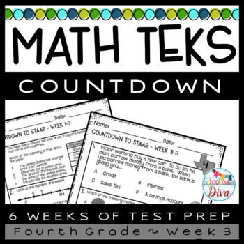 4th Grade Math TEKS Countdown - Week 3