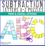 SUBTRACTION A-Z Letter Puzzles - Great for Bulletin Board