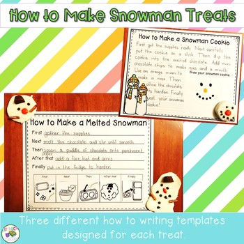 Snowman Snacks {how to writing and cooking in the classroom}