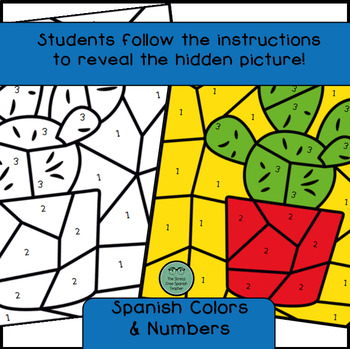 Spanish Cactus Mystery Pictures! Color By Number / Grids