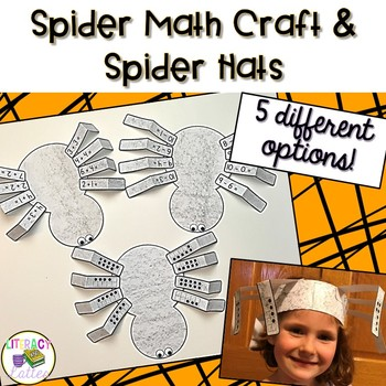 Spider Math Halloween Craft & Hats  {counting, addition, subtraction & patterns}