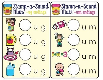 Stamp-a-Sound Mats: Letter Stamping Mats for Initial Consonants CVC
