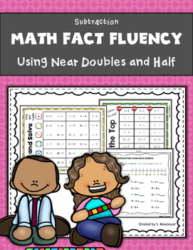 Subtraction Math Fact Fluency Mini-Packet: Using Near Doubles & Close to Half