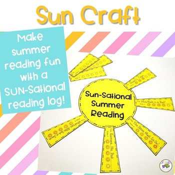 Sun Craft {reading log, memory book or adjective activity}