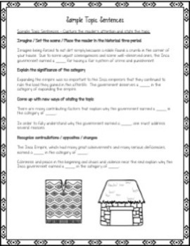 Argument Writing Project: Evaluate the Inca Empire