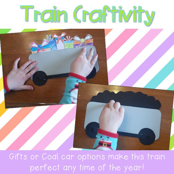 Train Craft and Writing Prompts {Polar Express Craft OR Year Round Fun}