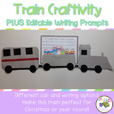 Train Craft and Writing Prompts {Polar Express Craft OR Ye