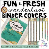 Travel Classroom Theme: Editable Binder Covers and Spines