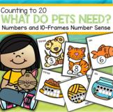 What Do Pets Need? Number Sense Centers for Preschool & Kindergarten
