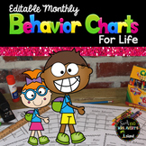 Behavior Calendars for Life - Editable - Yearlong