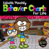 Behavior Calendars for Life - Editable - Yearlong
