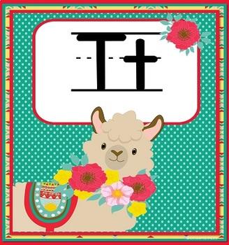 Alphabet Posters LLAMA Theme