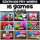 Silly Sight Word Games - Sixth 100 Fry Words