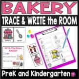 Kindergarten Community Helpers Bakery Write the Room Activities