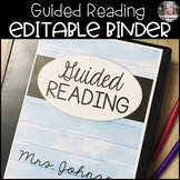 EDITABLE Guided Reading Binder - Shiplap Pastel