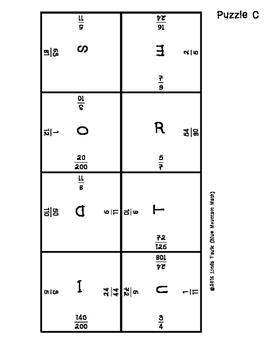 Equivalent Fractions Puzzle Set