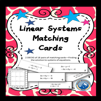 Linear Systems Matching Card Set-Double Set