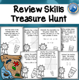 Math Skills Review Treasure Hunt