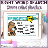 Sight Word SEARCH Boom Cards for Distance Learning