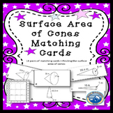Surface Area of Cones Matching Card Set