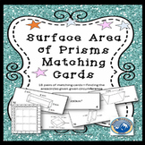 Surface Area of Prisms Matching Card Set