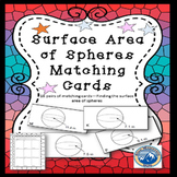 Surface Area of Spheres Matching Card Set