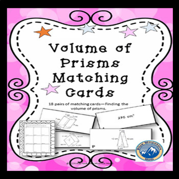 Volume of Prisms Matching Card Set