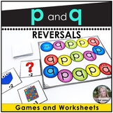 p and q worksheets and games