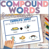 Compound Word Boom Cards for Distance Learning