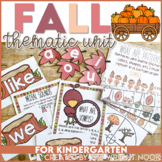 Fall Thematic Unit for Kindergarten