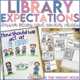 Library Expectations Anchor Chart and Lesson Plans