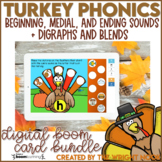 Thanksgiving Activities Phonics Practice | Digital Boom Cards