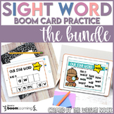 Sight Word Practice Boom Card Bundle for Digital Distance