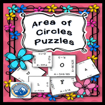 Area of Circle Puzzle Set