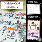 Holiday Card StARTers - Fun, Creative Christmas Card Making Activity
