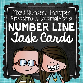 Mixed Numbers, Improper Fractions, and Decimals Task Cards