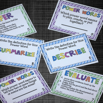 Creative and Critical Thinking Task Cards and More