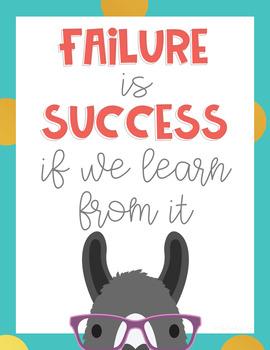 Llama Classroom Decor: Poster Set