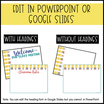 Editable PowerPoint and Parent Handouts {Pencils}