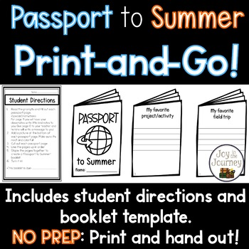End of the Year Memory Book - Passport to Summer